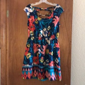 Xhiliration summer floral dress L